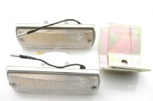 Set of 2 reverse lights with mounting brackets